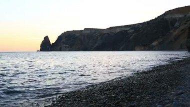 Yakhontovy beach near the cape Fiolent — Stock Video
