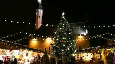 Holiday  at  Old Town  in  Tallinn — Stock Video
