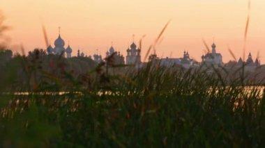 Kremlin in Rostov at sunrise — Stock Video