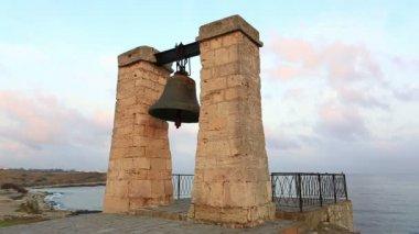 Bell of Chersonesos at sunrise — Stock Video