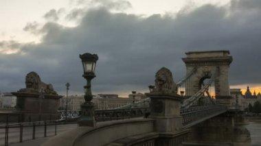 Clouds  over Secheni Bridge — Stock Video