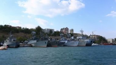 Warships in Sevastopol — Stock Video