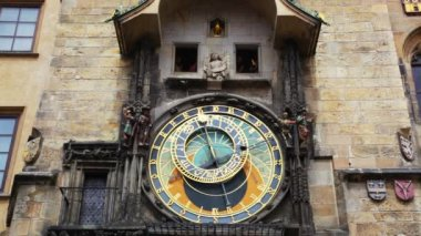 Famous Astronomical Clock — Stok video