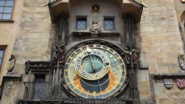 Famous Astronomical Clock — Vídeo de Stock