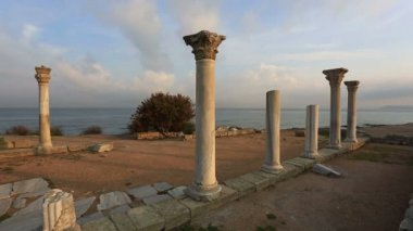 Ancient Greek city of Chersonese — Stock video