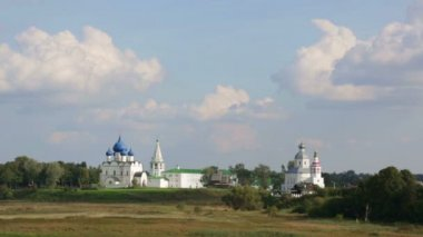 Nativity Cathedral of the Suzdal Kremlin — Stock Video