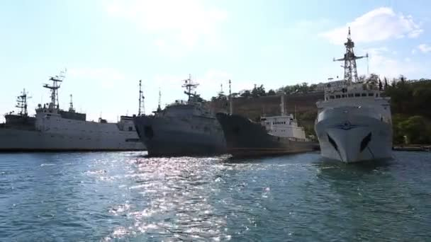 Warships of the Russian Navy — Vídeo de stock