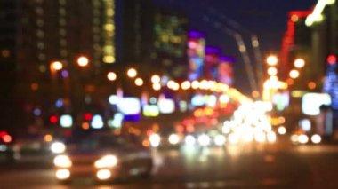Night city lights — Stock Video