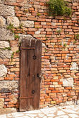 Wall of the old house — Stock Photo
