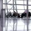 People with luggage in Airport — Stock Video #67481979