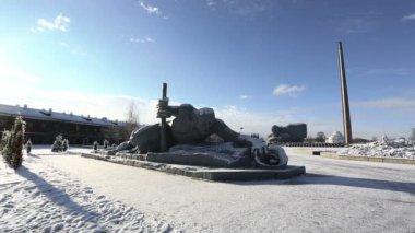 War monument, Brest — Stock Video