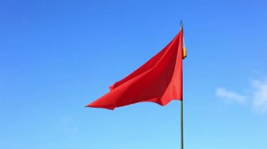 Red blank flag — Stock Video