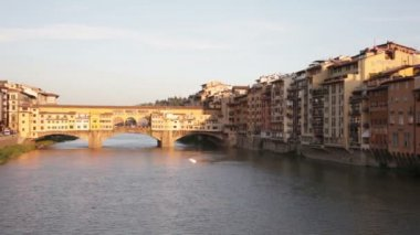 View of Gold Bridge in Florence — Stock Video