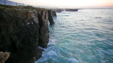 Waves of the Atlantic Ocean — Stockvideo