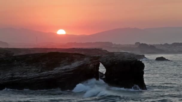 Olas del océano Atlántico — Vídeo de stock