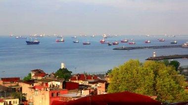 Sea of Marmara and ships — Stock Video