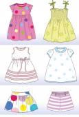 Girl summer collection — Stock Vector