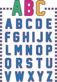 Mesh alphabet — Wektor stockowy