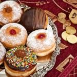 Hanukkah doughnuts — Stock Photo #58421947