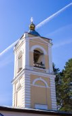 Belfry Church of the Epiphany in the village Perhovo — Stock Photo