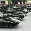 MOSCOW - 6 May 2010: Main battle tank T-90. Dress rehearsal of M — Stock Photo #59767013