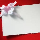 Cartão de natal com coração — Fotografia Stock