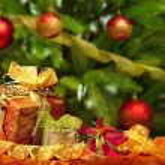 赤いクリスマス ボール背景 — ストック写真 #60326561