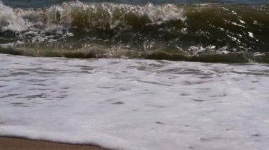 Waves breaking on a seashore — Stockvideo