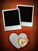 Polaroid style photo frame — Stock Photo