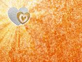 Holidays card with hearts — Stock Photo