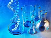 Scientific Laboratory glassware — Stock Photo