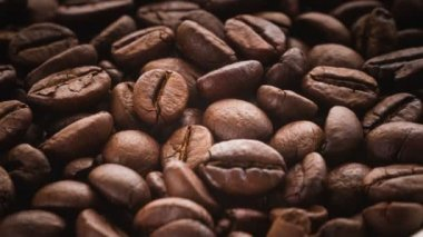 Oasted coffee beans rotating. — Video Stock