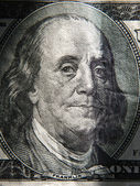 Benjamin Franklin's portrait ion banknote — Stock Photo