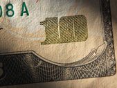 Fragment of 10 dollar bill. — Stock Photo