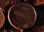 American one cent background. — Stock Photo