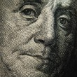 Benjamin Franklin's portrait on 100 dollar — Stock Photo #72349479