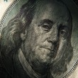 Benjamin Franklin's portrait on 100 dollar — Stock Photo #72495771