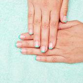 Cuidados para as unhas de mulher sensualidade — Foto Stock