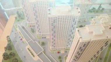 Diorama of dwelling complex — Stock Video