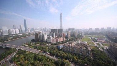 Panorama of Guangzhou — Stock Video