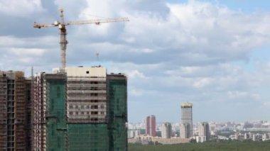 Multi-storey building under construction — Stock Video