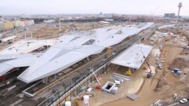 Construction train station in Vienna — Stockvideo