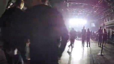 People at Stadium Live Bar — Stock Video