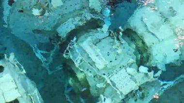 Underwater space simulator close up — Stock Video