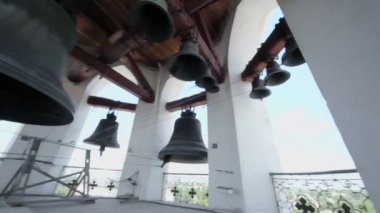 Bells in Holy Resurrection church — Stok video
