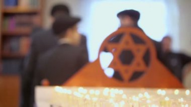 Young jewish boys in synagogue — Stock Video
