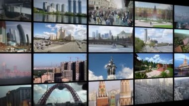 Moscow images collage — Stockvideo