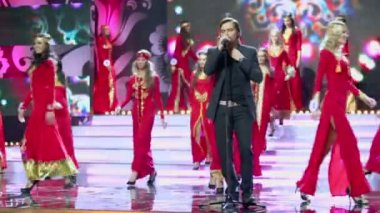 Popular Swedish singer Bosson — Stock Video
