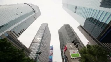 Skyscrapers in business center — Stock Video