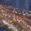 Night traffic on highway in Moscow — Stock Video #60013693